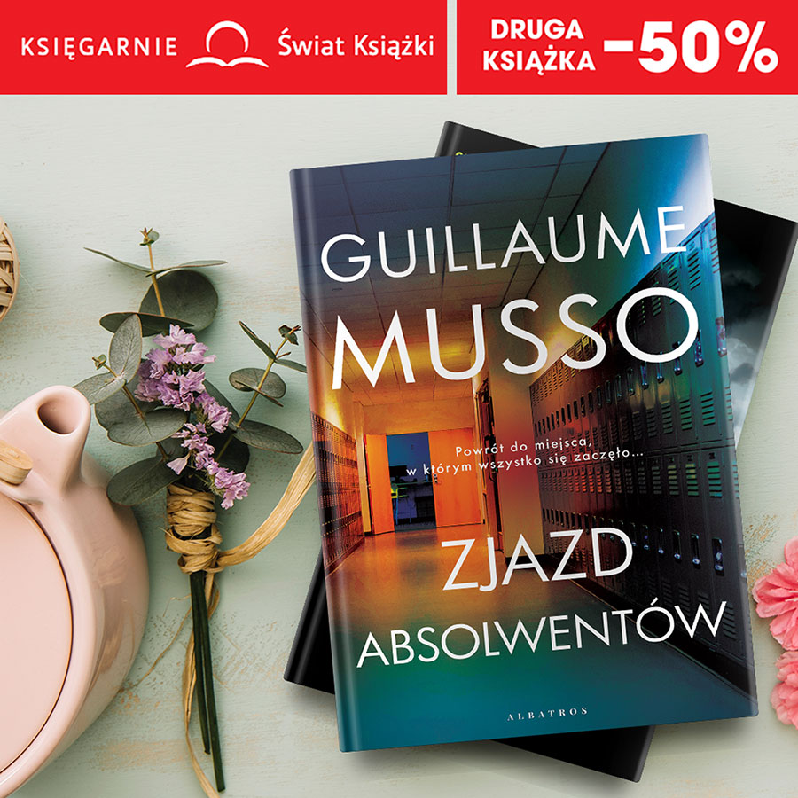 Druga książka -50% w Księgarniach Świat Książki!