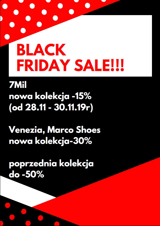 Black Weekend w Shoes Store
