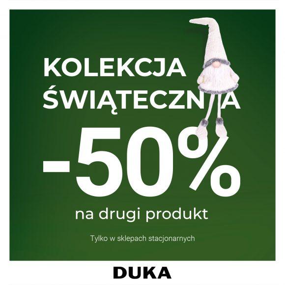 -50% na drugi produkt z kolekcji świątecznej DUKA
