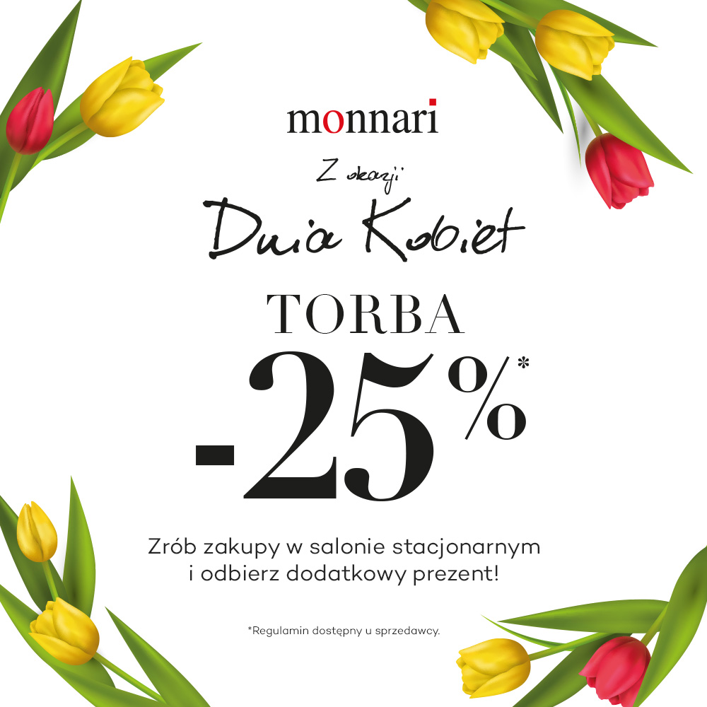 -25% na torby z okazji Dnia Kobiet