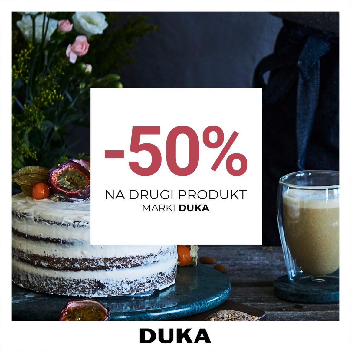 -50% na drugi produkt marki DUKA