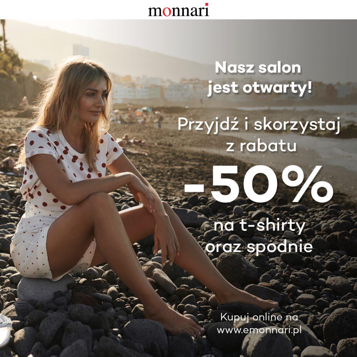 -50% na t-shirty oraz spodnie
