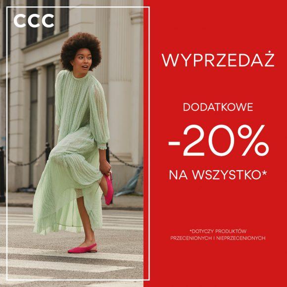 Dodatkowy rabat 20% na wszystko w CCC!