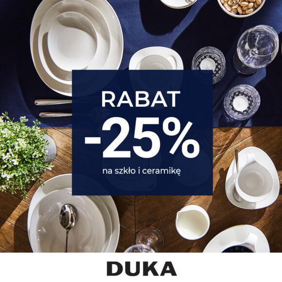 DUKA | Aktualna Promocja | -20% na szkło i ceramikę