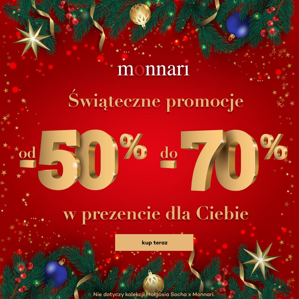 Świąteczne promocje od -50% do -70% w Monnari