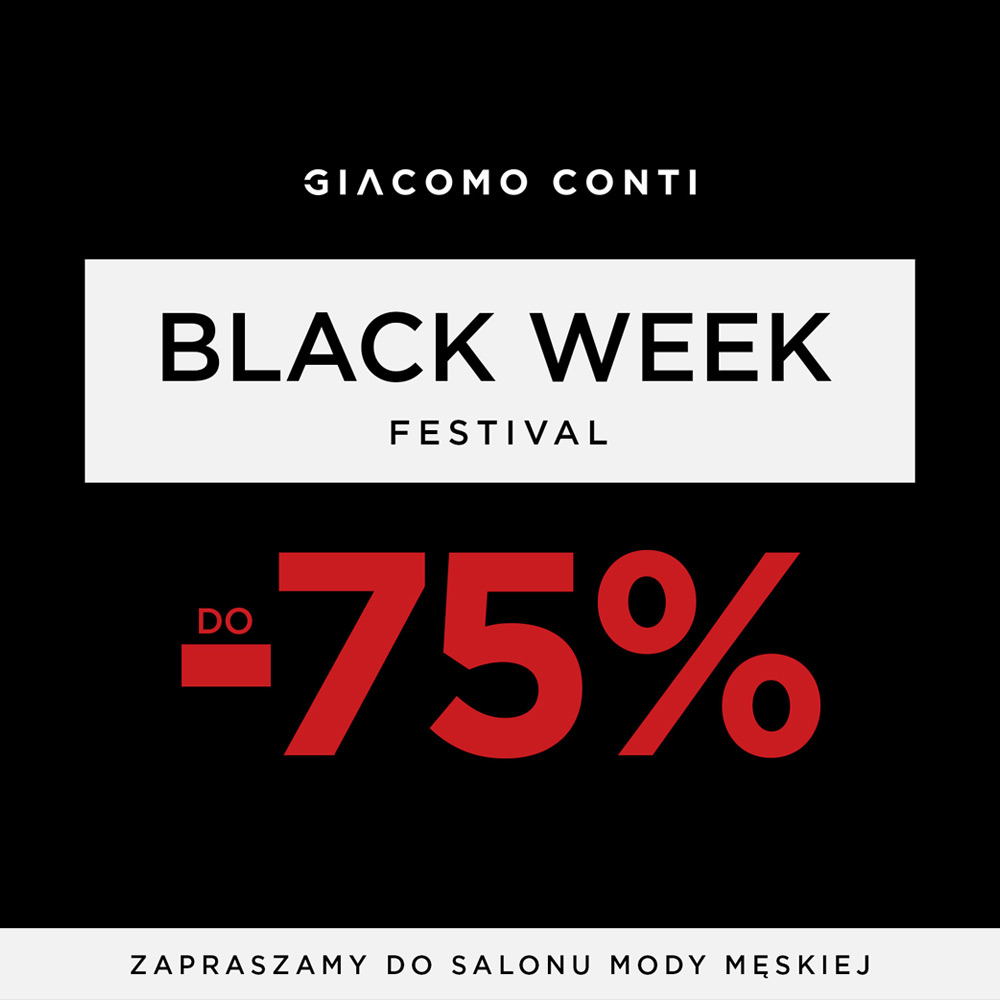 Black Week Festival w Giacomo Conti!
