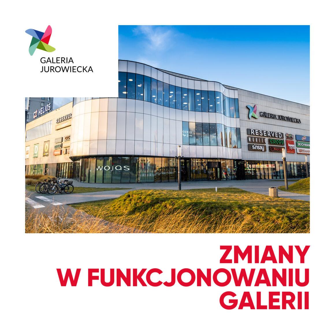 Zmiany w funkcjonowaniu Galerii Jurowiecka