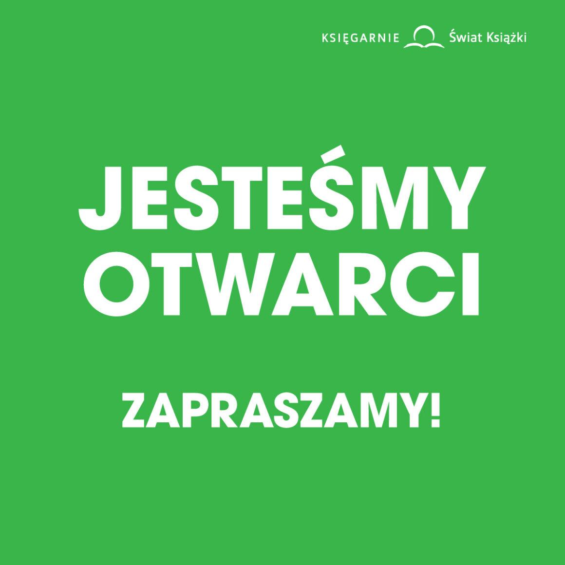 Księgarnia Świat Książki otwarta!