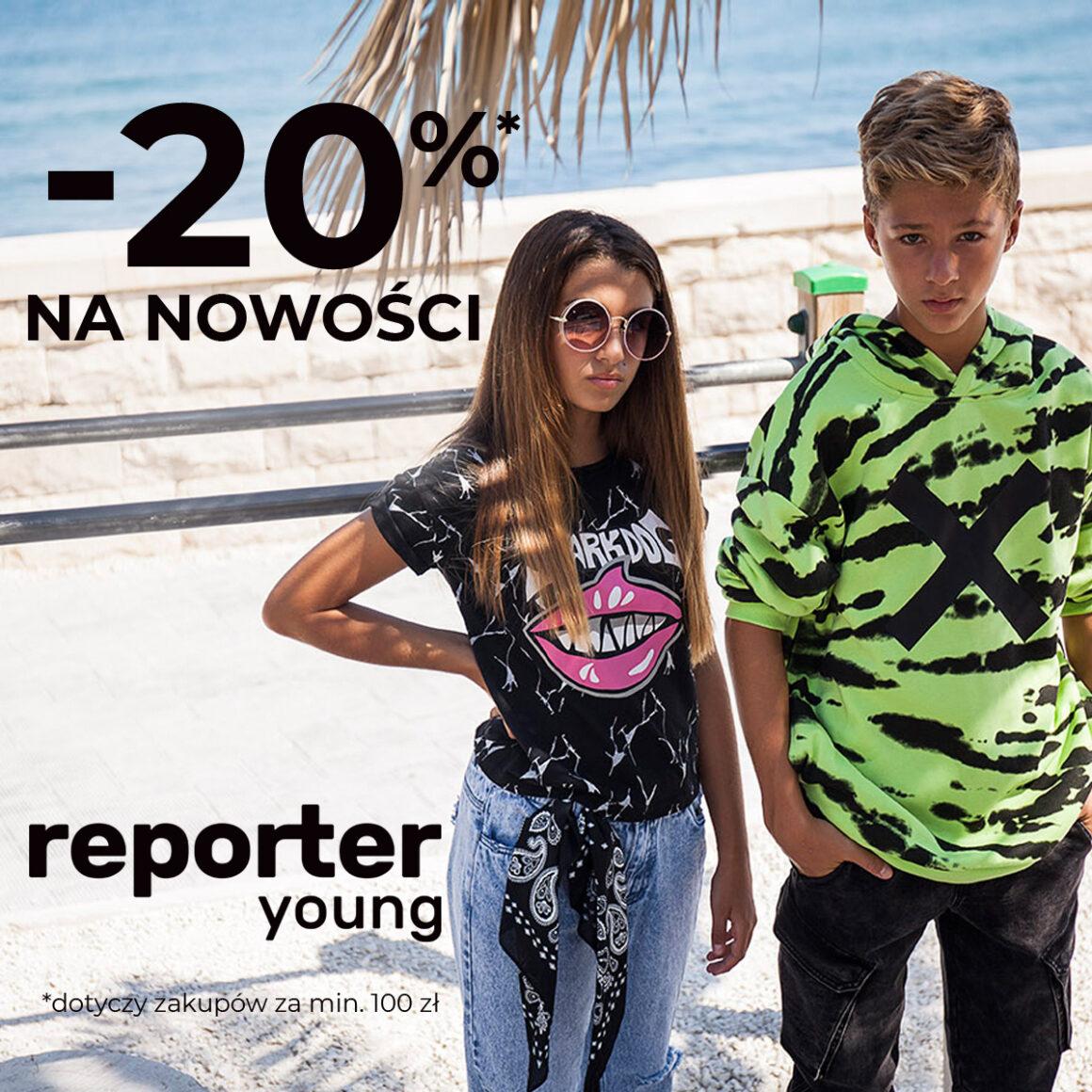 Dołącz do świata Reporter Young i zgarnij rabat -20% na NOWOŚCI!