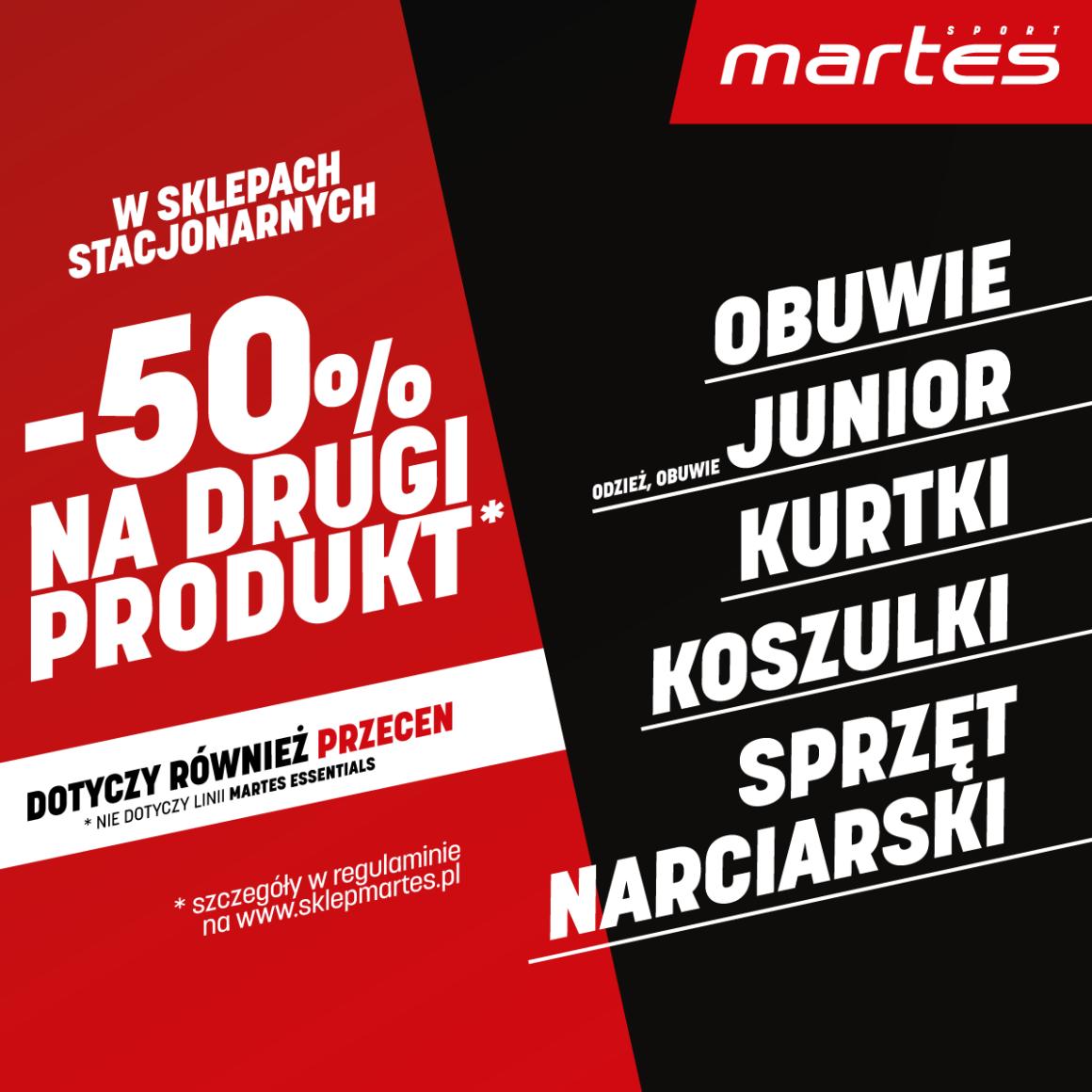 MARTES SPORT: -50% NA DRUGI PRODUKT!