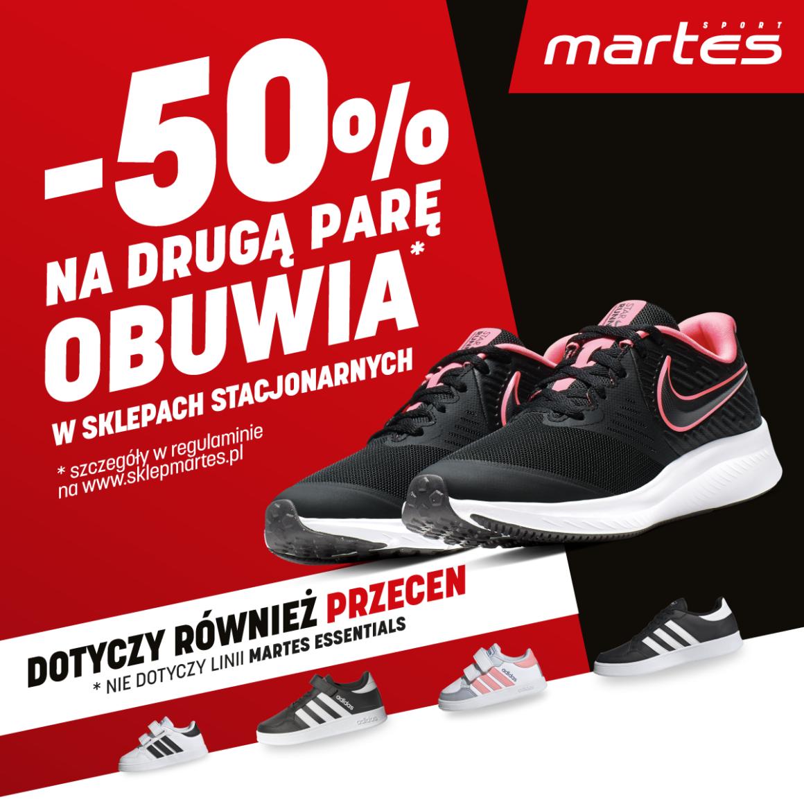 Martes Sport: -50% na drugą parę obuwia!