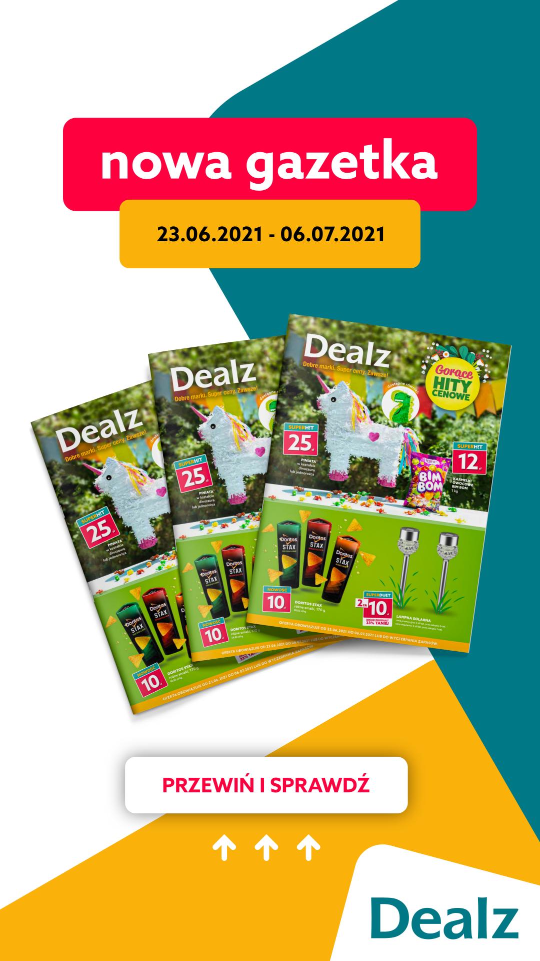 Nowa Gazetka Dealz! 23.06.2021 – 06.07.2021