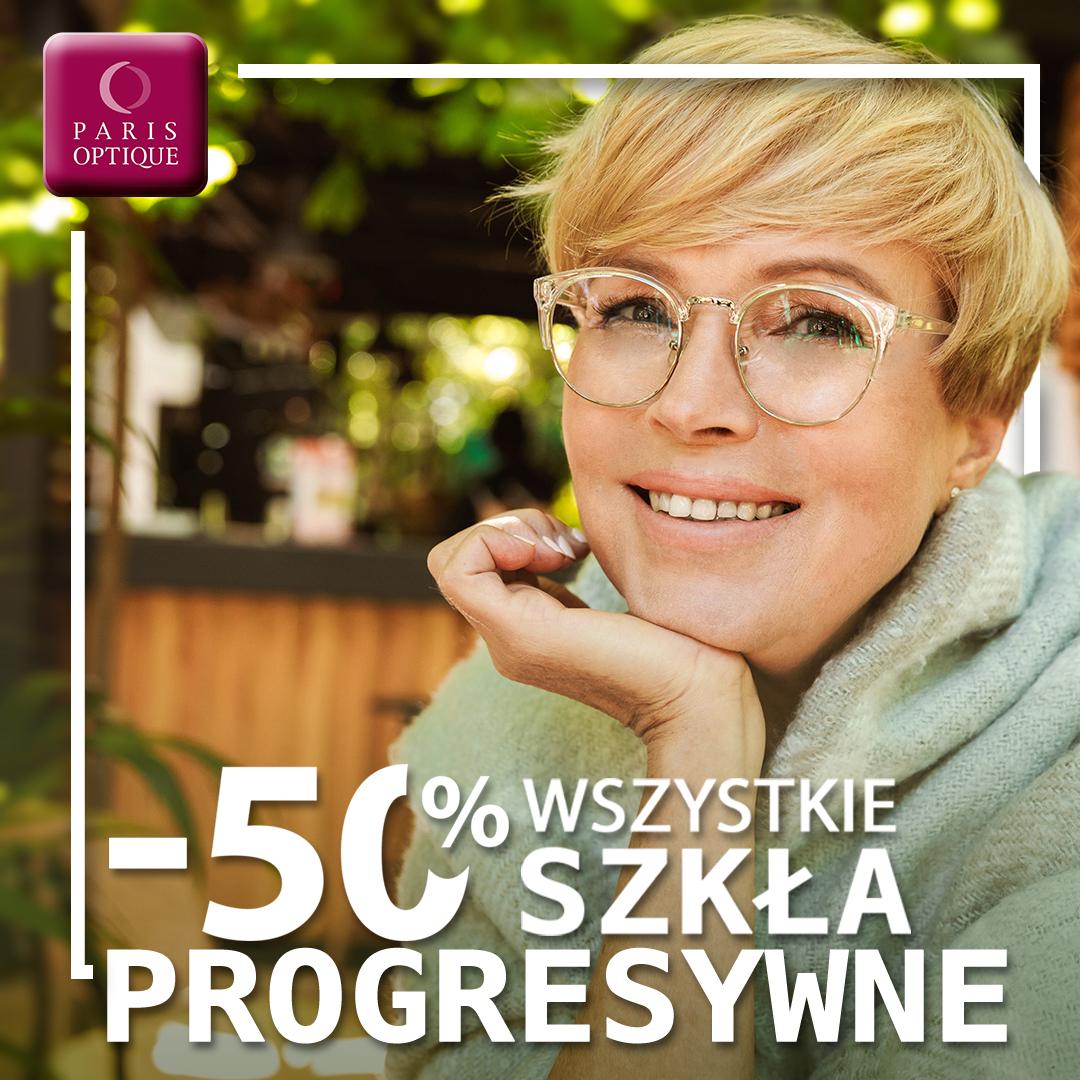 -50% na wszystkie szkła progresywne!