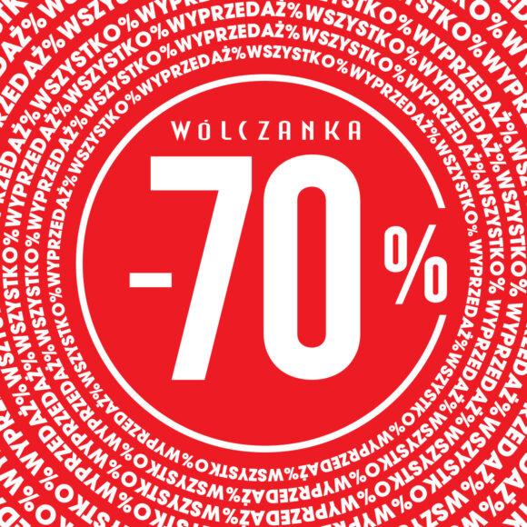 Wyprzedaż do -70% w butiku Wólczanka!