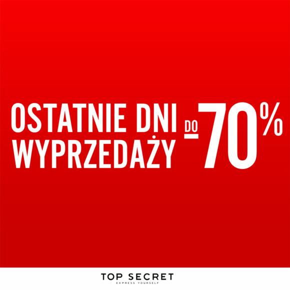 To już Ostatnie Dni Wyprzedaży do -70%!