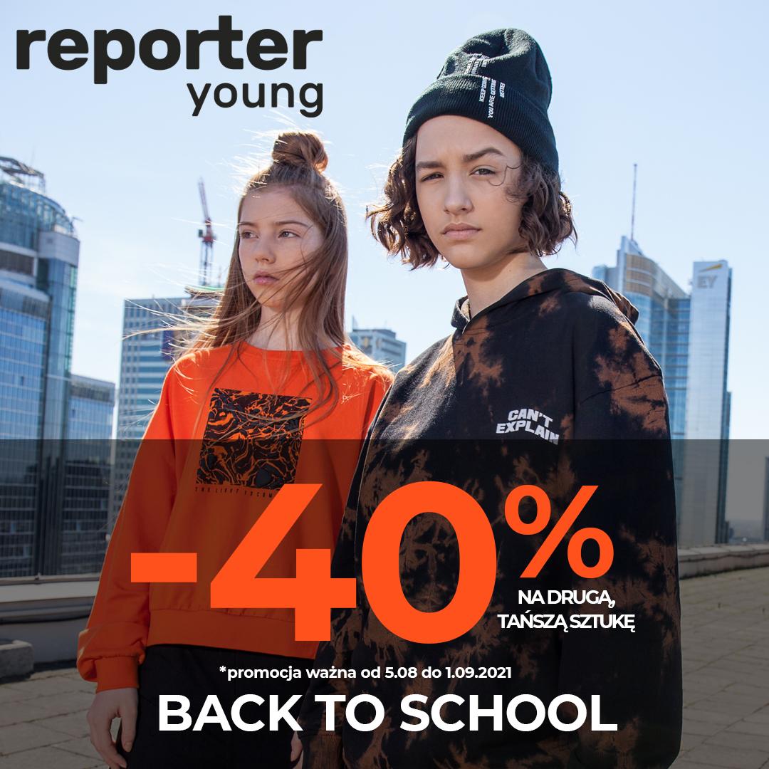 Back To School! Rabat -40% na drugą rzecz!