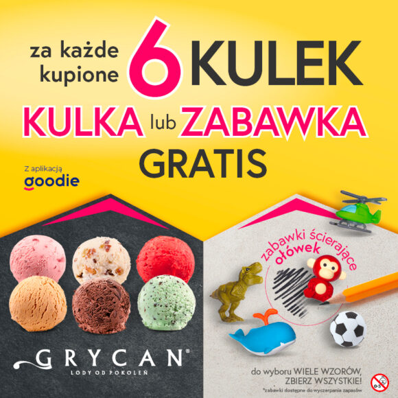 GRYCAN – kulka lub zabawka gratis