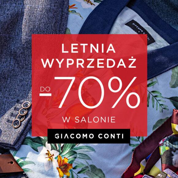 LETNIE WYPRZEDAŻE aż do -70% w salonach Giacomo Conti!