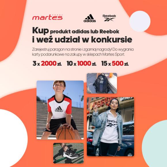 Konkurs adidas/ Reebok w Martes Sport