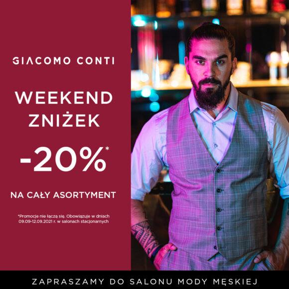 Weekend zniżek – 20%!!!
