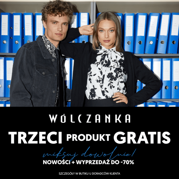 Trzeci produkt GRATIS w butiku WÓLCZANKA!