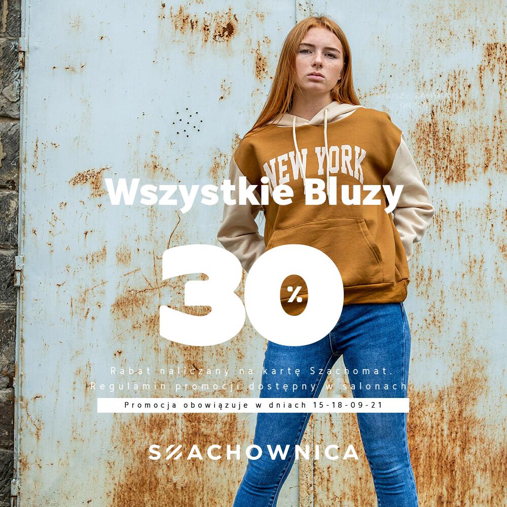 -30% na Bluzy w Szachownica!